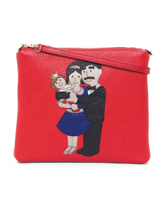 Made In Italy Leather Family Pouch