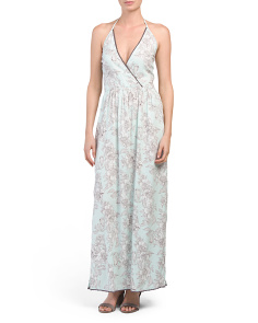 Juniors Floral Wrap Maxi Dress