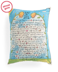 14x18 How To Live Pillow