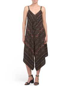 Juniors Printed Jumpsuit