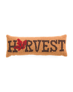 8x22 Hand Hooked Harvest Pillow