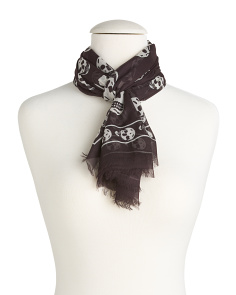 Made In Italy Skull Scarf
