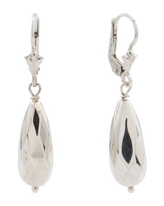 Made In Italy Sterling Silver Electroform Drop Earrings