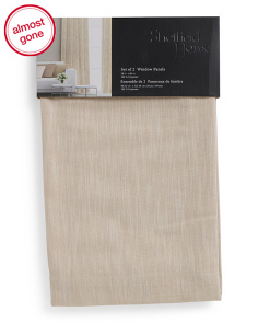 38x84 Set Of 2 Linen Look Curtains