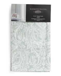 Set Of 2 Paisley Print Curtains