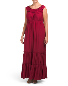 Plus Made In USA Ruffle Maxi Dress