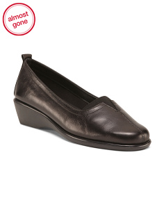Leather Center Gore Loafers