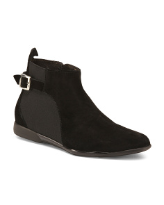 Made In Italy Suede Low Booties