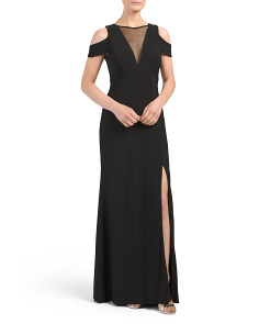 Juniors Off The Shoulder Gown