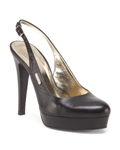 Made In Italy Leather Platform Pumps