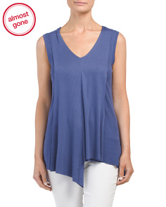 Ribbed Asymmetrical Hem Tank
