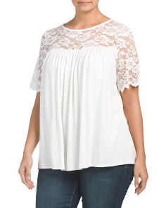 Plus Made In USA Lace Swing Top