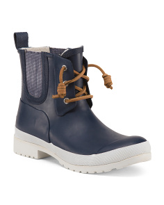 Waterproof Lace Up Rain Booties