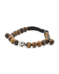 Handcrafted Tigers Eye Corded Mala Bracelet