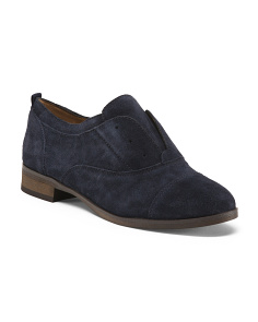 Suede Slip On Oxfords