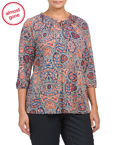 Plus Multi Print Top