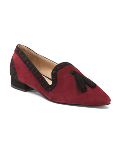 Pointy Toe Tassel Loafers