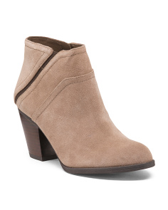 Suede Side Zipper Booties