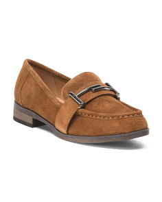 Suede Buckle Loafer