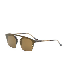 Made In Italy Unisex Shield Sunglasses With Case