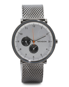 Men's Hald Multifunction Mesh Strap Watch In Dark Grey