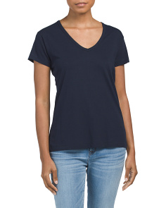 V Neck Pima Cotton Tee