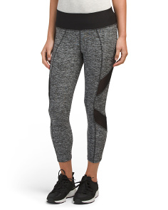 Mesh Inset Athletic Capris