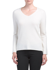Cashmere Deep V Pullover Sweater