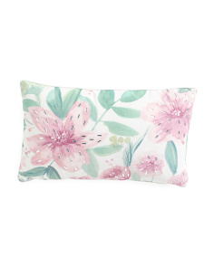 12x20 Watercolor Faux Linen Pillow