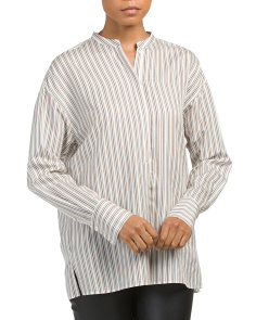Silk Striped Tunic