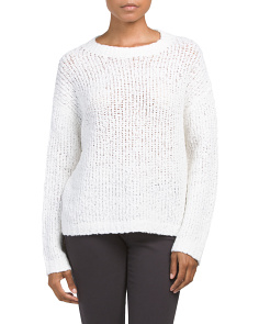 Merino Wool Blend Textured Boxy Sweater