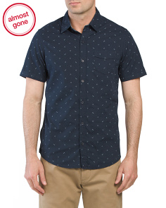 Short Sleeve Native Woven Shirt