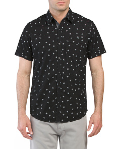 Short Sleeve Spider Print Shirt