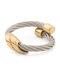 Made In Germany Stainless Steel And Vermeil Ring