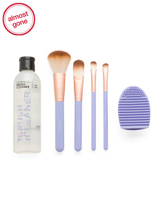 6pc Brush Care Kit With Brush Cleaner