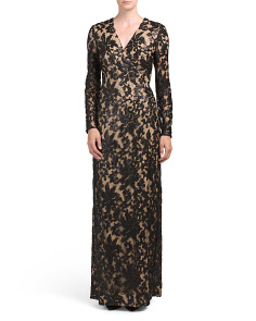 Elle Sequin Embellished Lace Gown