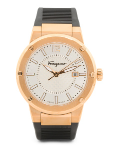 Men's Swiss Made F 80 Chronograph Rose Gold Plated Watch