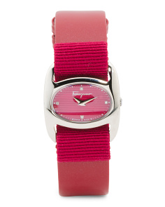 Women's Swiss Made Diamond Interchangeable Strap Watch
