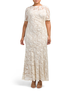 Plus Lace Gown