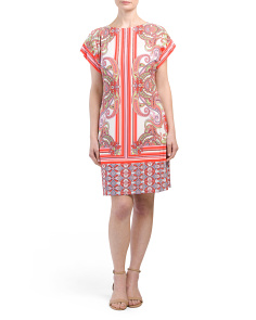 Short Sleeve Printed Jersey Dress