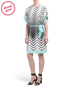 Dot Printed Jersey Dress