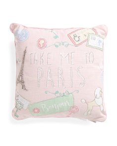 Kids Made In India 20x20 Take Me To Paris Pillow