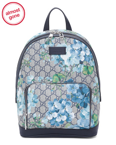 Made In Italy Blooms Supreme Canvas Backpack