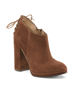 Made In Italy Suede Platform Booties