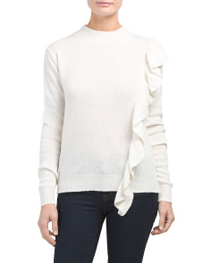 Made In Italy Ruffle Front Sweater