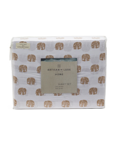 200tc Mini Elephant Sheet Set