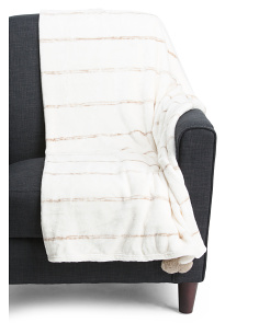 Oversized Plush Pom Throw