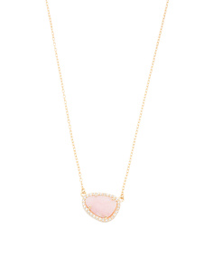 Made In Italy 14k Gold Opal Necklace