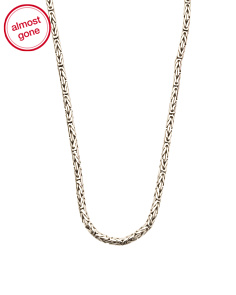 Made In Bali Sterling Silver Woven Chain Necklace