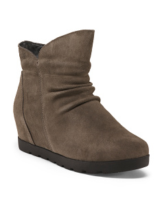 Waterproof Suede Ankle Booties